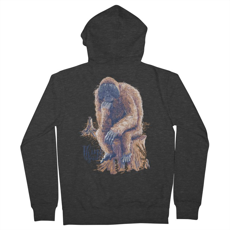 Think Again Men's Zip-Up Hoody by Artist Shop
