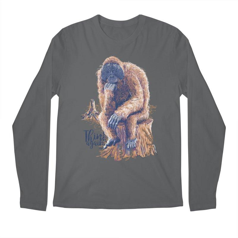 Think Again Men's Regular Longsleeve T-Shirt by Artist Shop