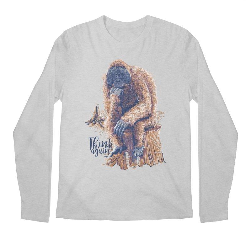 Think Again Men's Longsleeve T-Shirt by Artist Shop