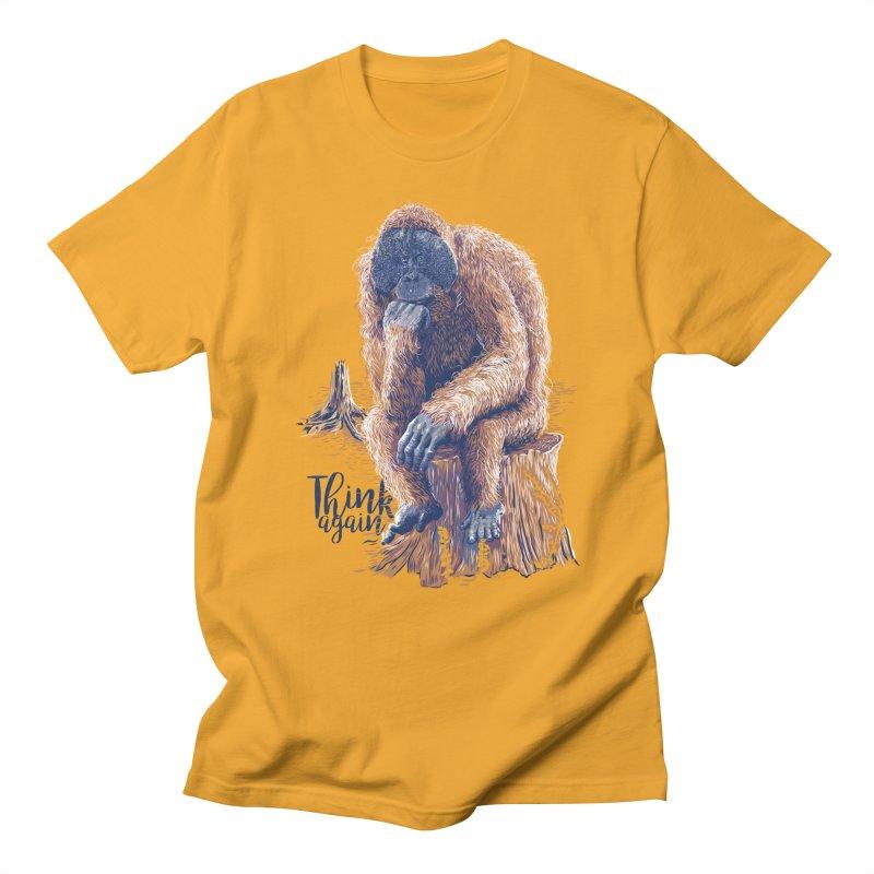 Think Again Men's Regular T-Shirt by Artist Shop