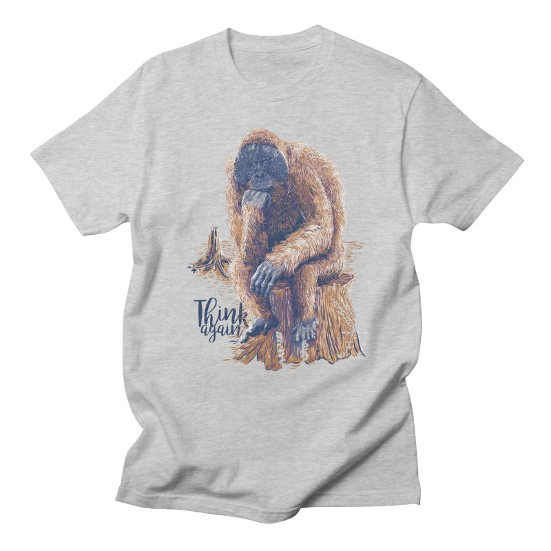 Think Again in Men's T-Shirt Heather Grey by Artist Shop