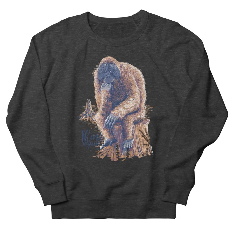 Think Again Women's French Terry Sweatshirt by Artist Shop