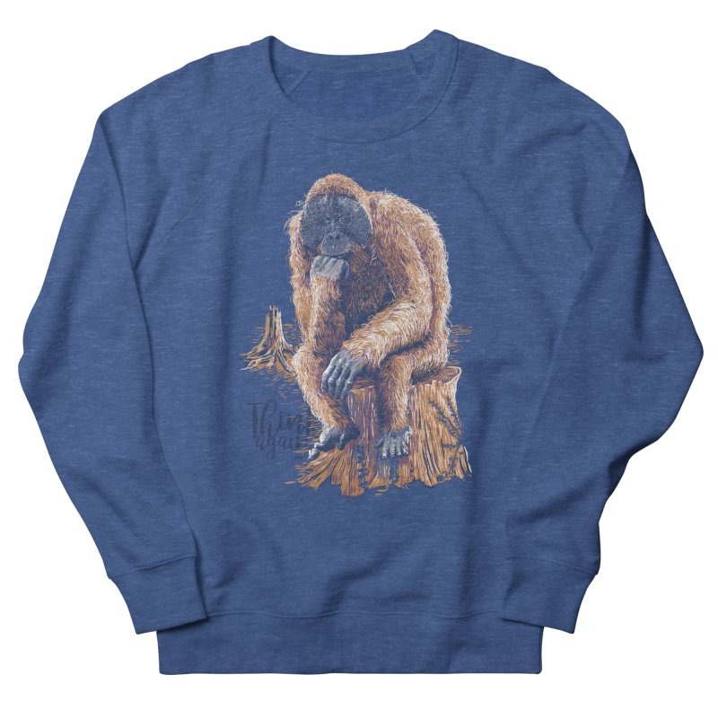Think Again Men's French Terry Sweatshirt by Artist Shop