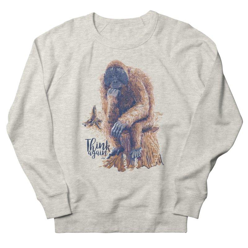 Think Again Men's Sweatshirt by Artist Shop