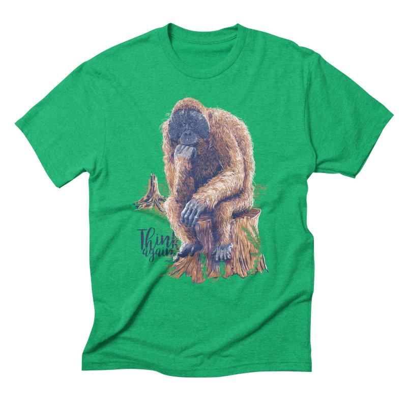 Think Again Men's Triblend T-shirt by Artist Shop