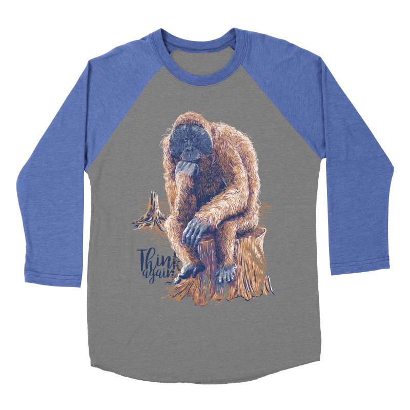 Think Again Men's Baseball Triblend Longsleeve T-Shirt by Artist Shop