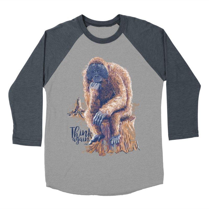 Think Again Men's Baseball Triblend T-Shirt by Artist Shop