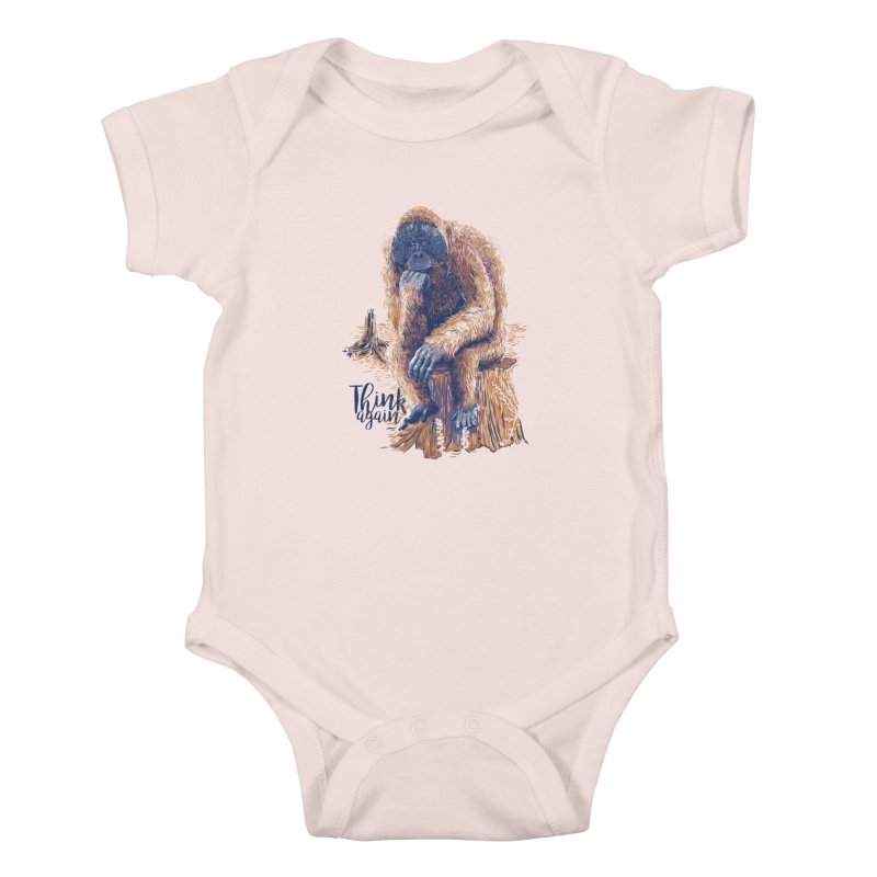 Think Again Kids Baby Bodysuit by Artist Shop
