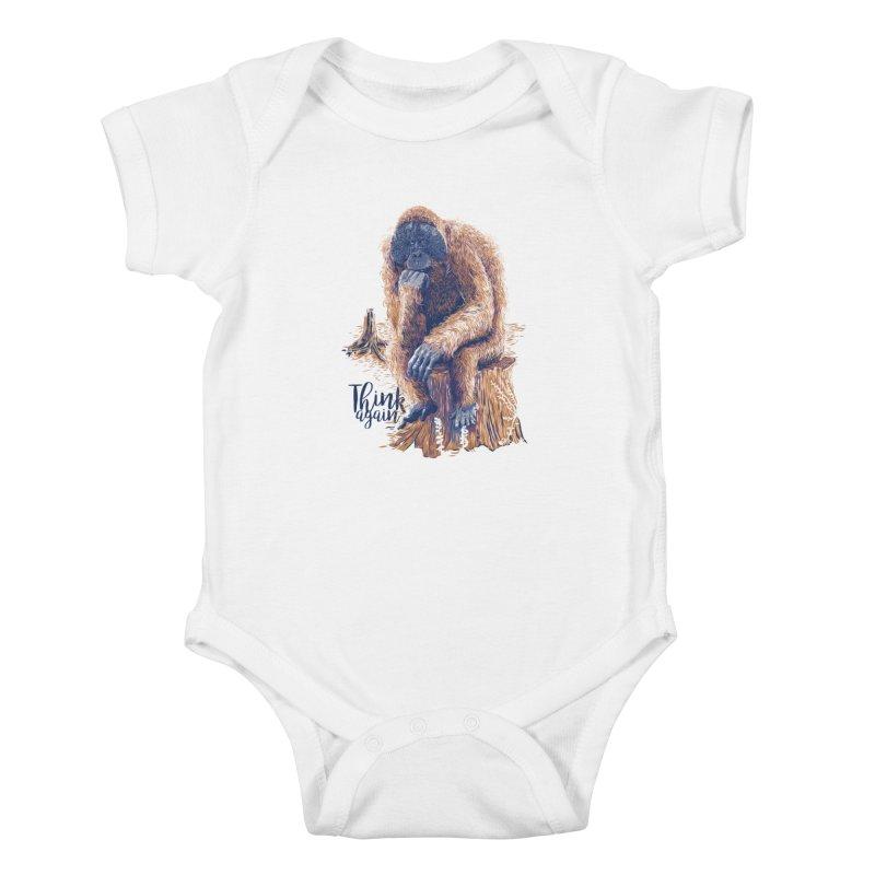 Think Again Kids Baby Bodysuit by Artist Shop