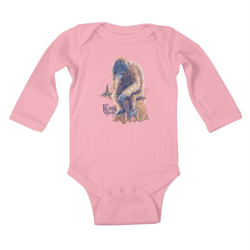 Think Again Kids Baby Longsleeve Bodysuit by Artist Shop