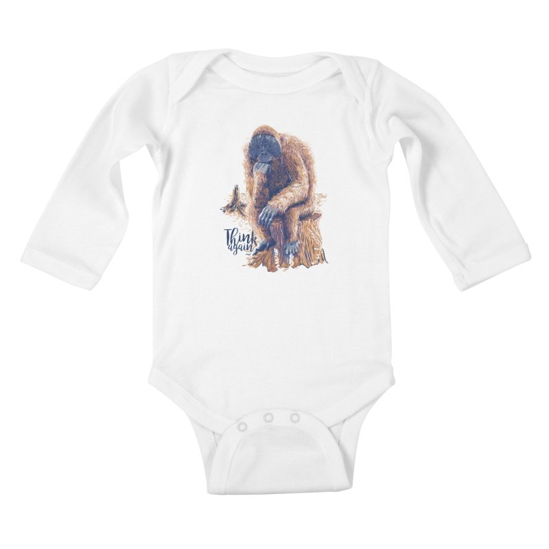 Think Again Kids Baby Longsleeve Bodysuit by Artist Shop