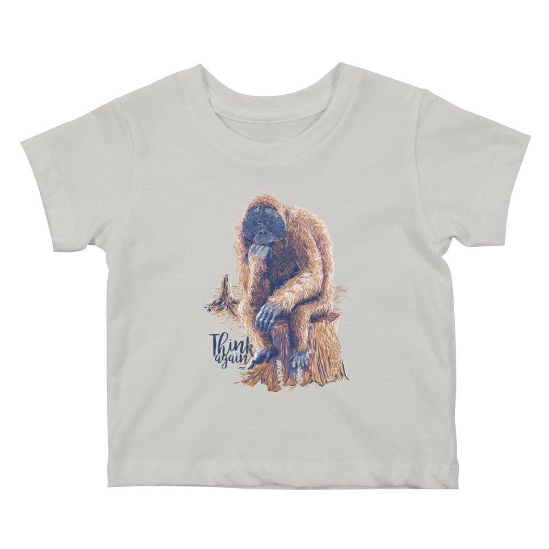 Think Again Kids Baby T-Shirt by Artist Shop