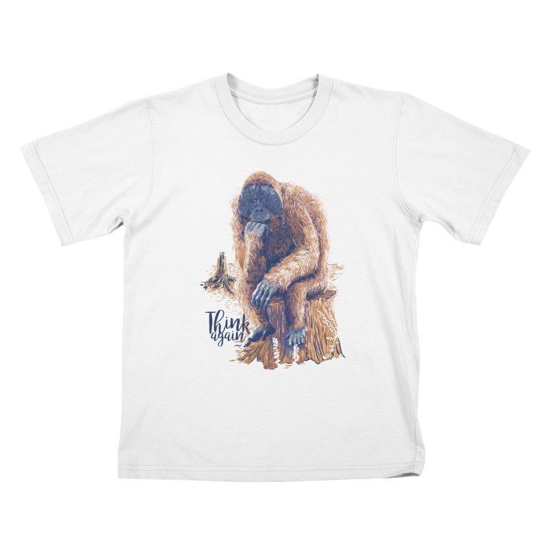 Think Again Kids T-Shirt by Artist Shop