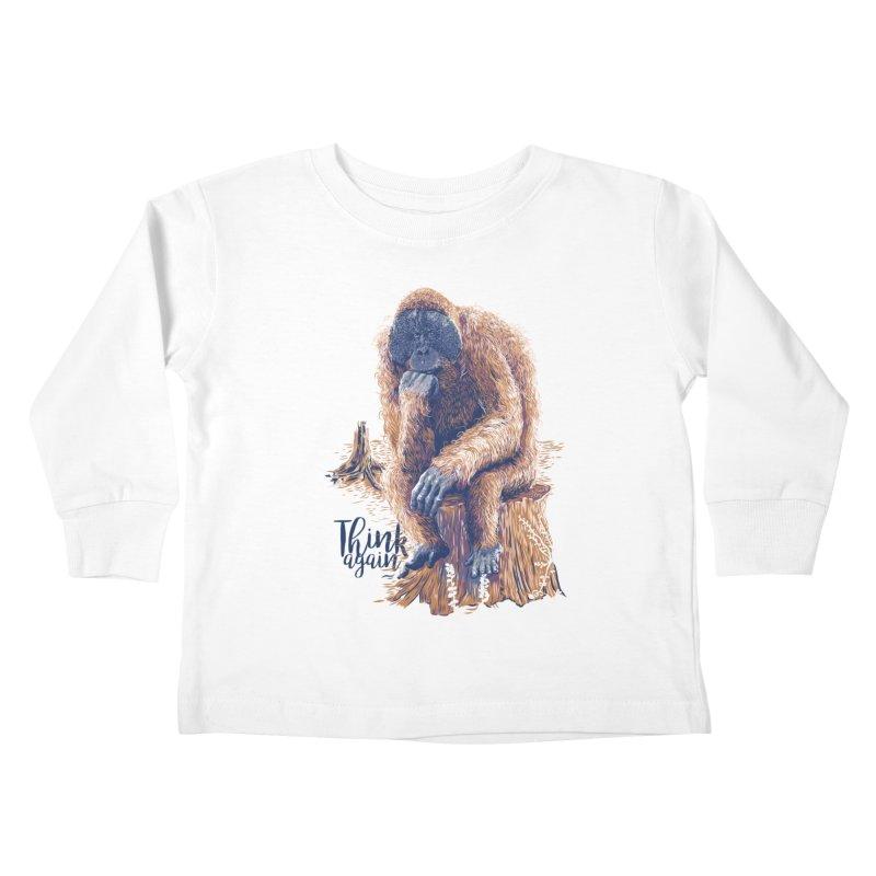 Think Again Kids Toddler Longsleeve T-Shirt by Artist Shop