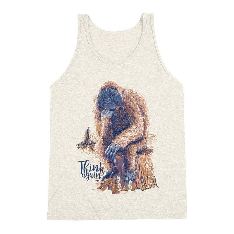 Think Again Men's Triblend Tank by Artist Shop