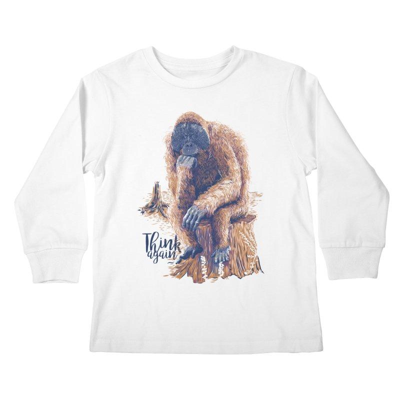Think Again Kids Longsleeve T-Shirt by Artist Shop