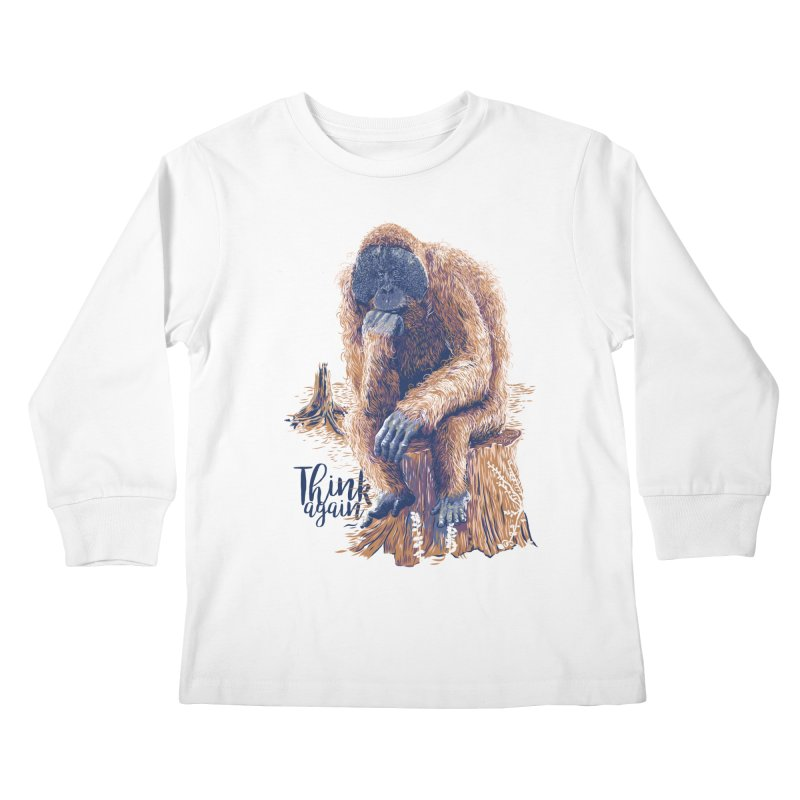 Think Again Kids Longsleeve T-Shirt by Artist Shop
