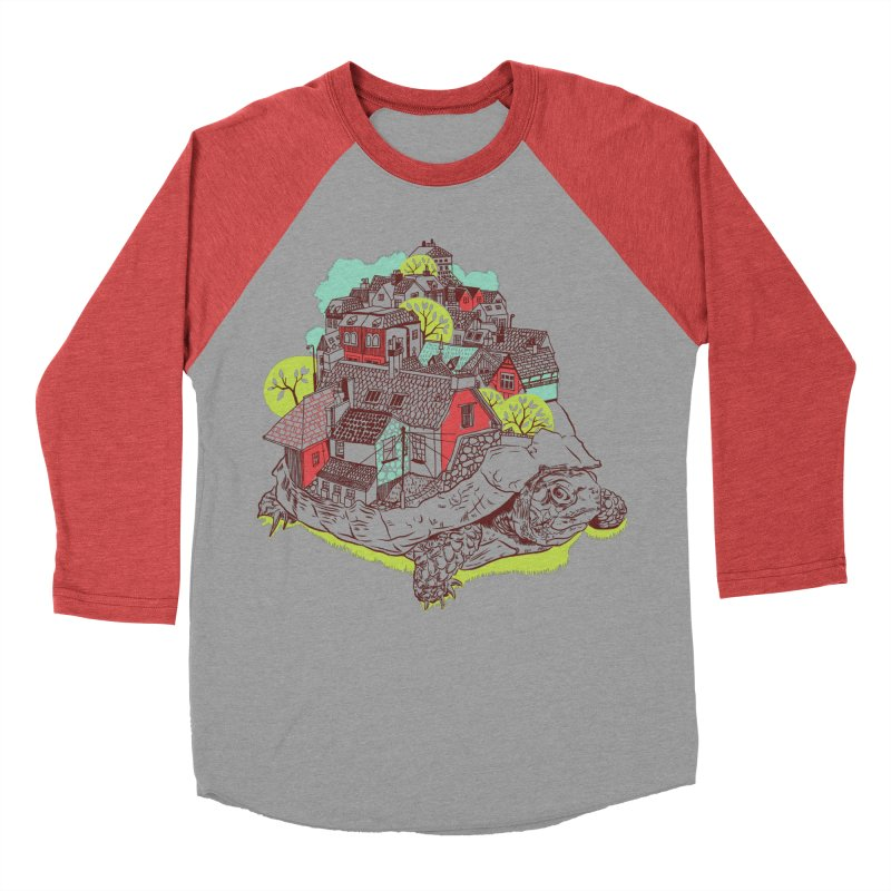 TurTown Women's Baseball Triblend Longsleeve T-Shirt by Artist Shop