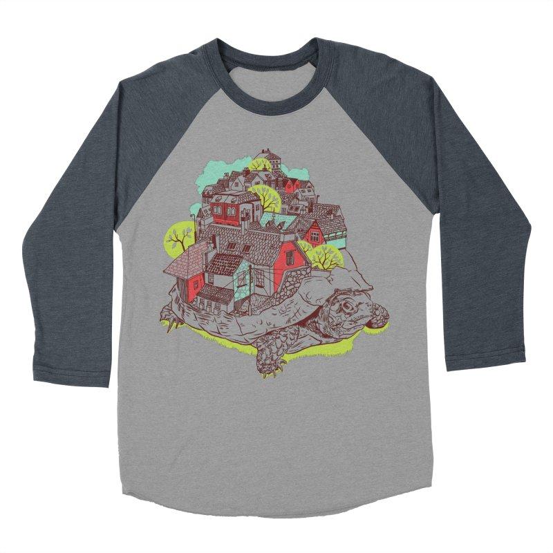 TurTown Men's Baseball Triblend Longsleeve T-Shirt by Artist Shop