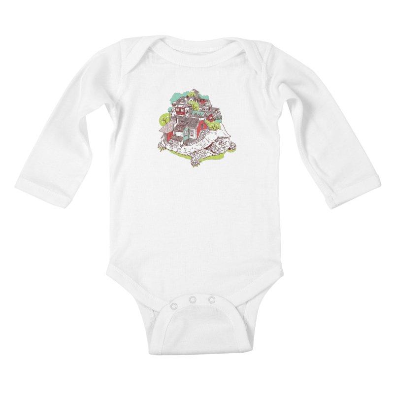 TurTown Kids Baby Longsleeve Bodysuit by Artist Shop