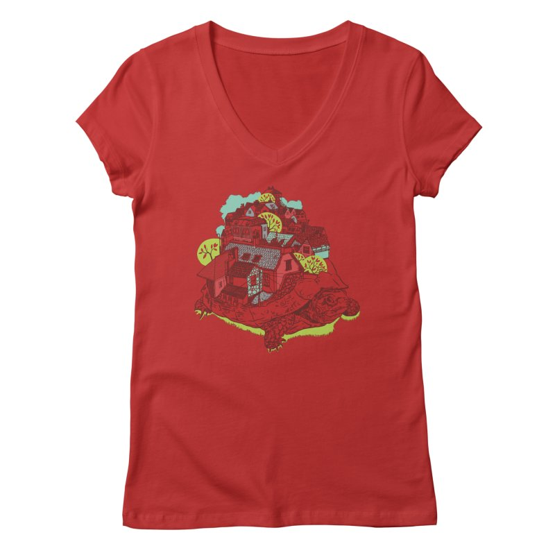 TurTown Women's Regular V-Neck by Artist Shop