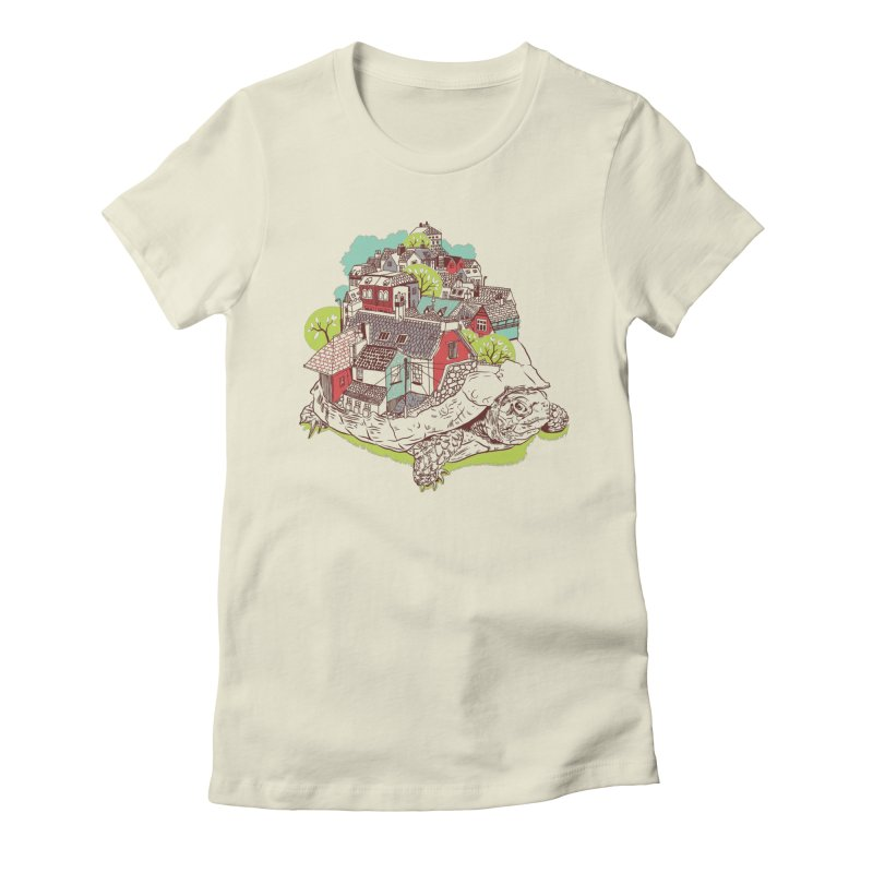 TurTown Women's Fitted T-Shirt by Artist Shop