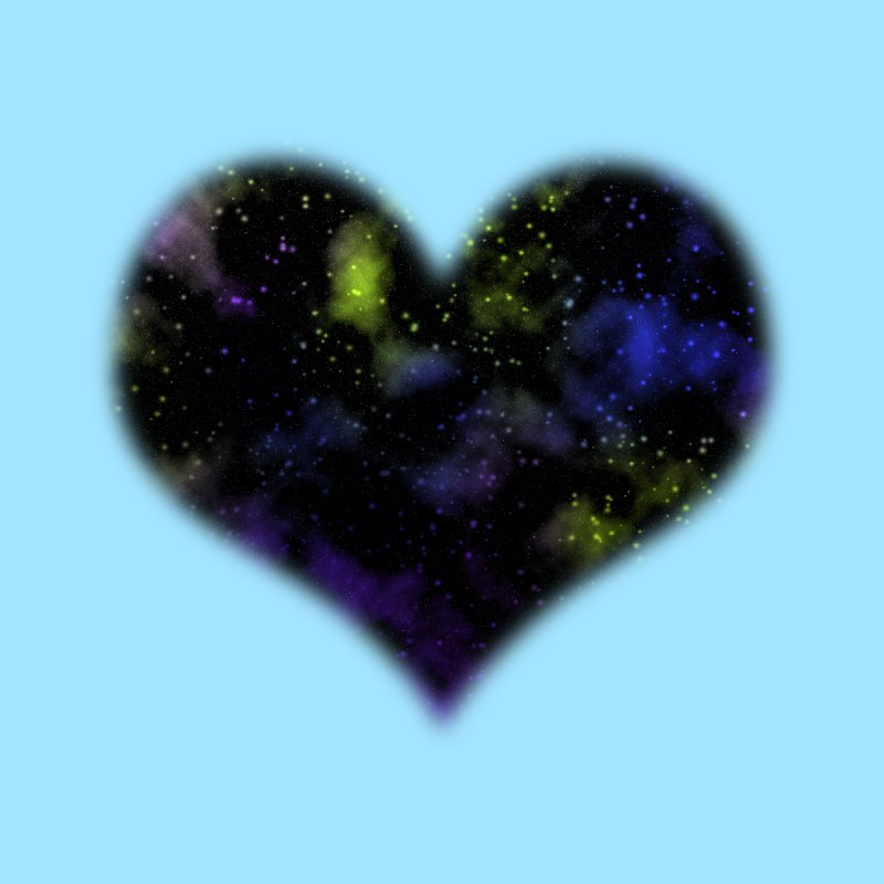 Nebula Heart by Baubly Apparel