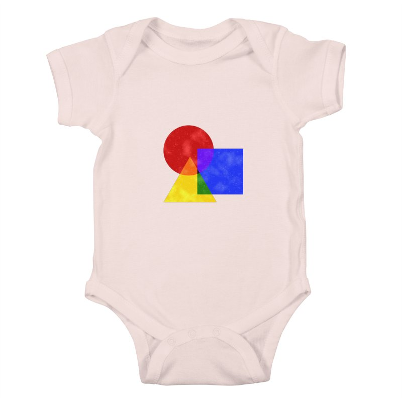 Primary Shapes Kids Baby Bodysuit by Baubly Apparel