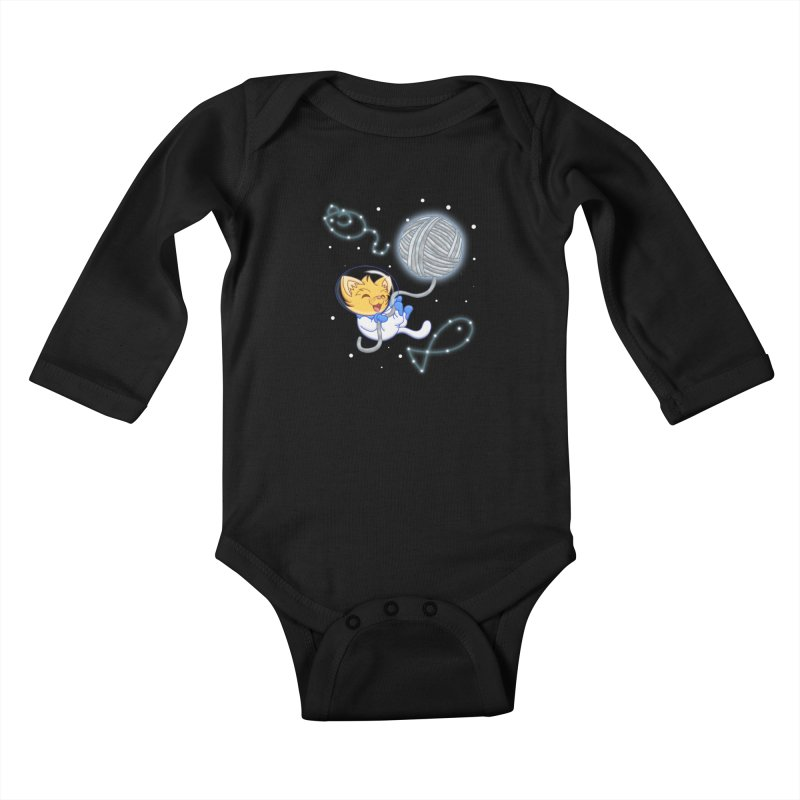 Yarn Moon Kids Baby Longsleeve Bodysuit by Baubly Apparel