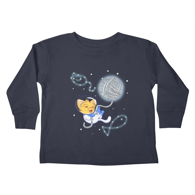 Yarn Moon Kids Toddler Longsleeve T-Shirt by Baubly Apparel