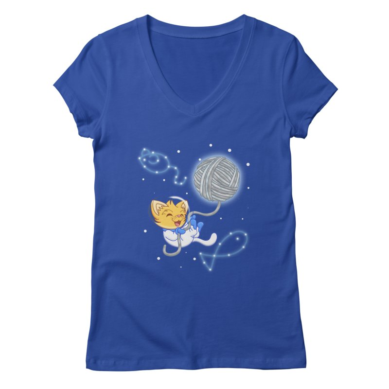 Yarn Moon Women's V-Neck by Baubly Apparel