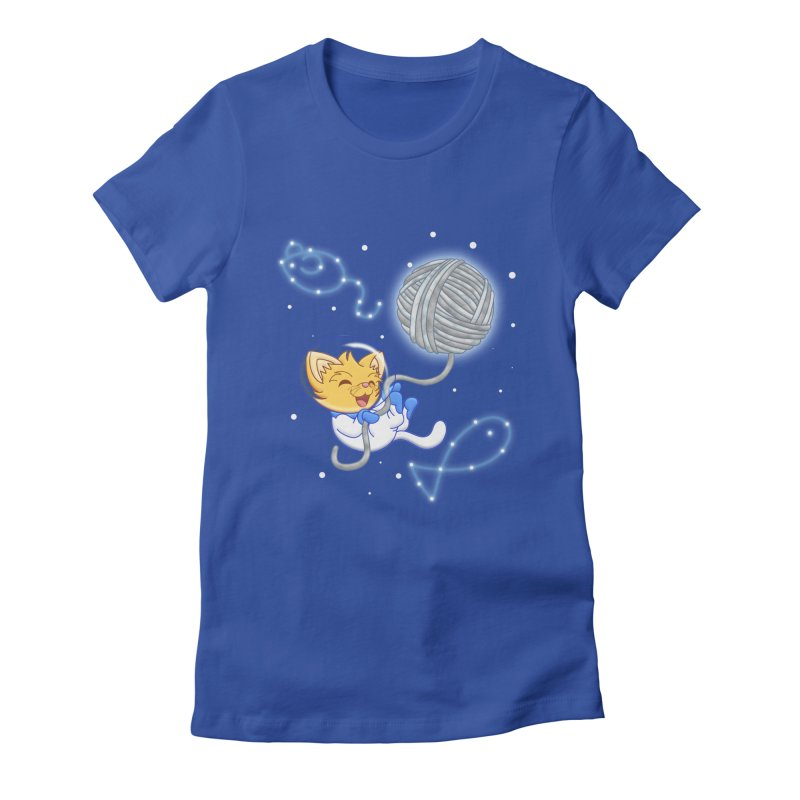 Yarn Moon Women's Fitted T-Shirt by Baubly Apparel