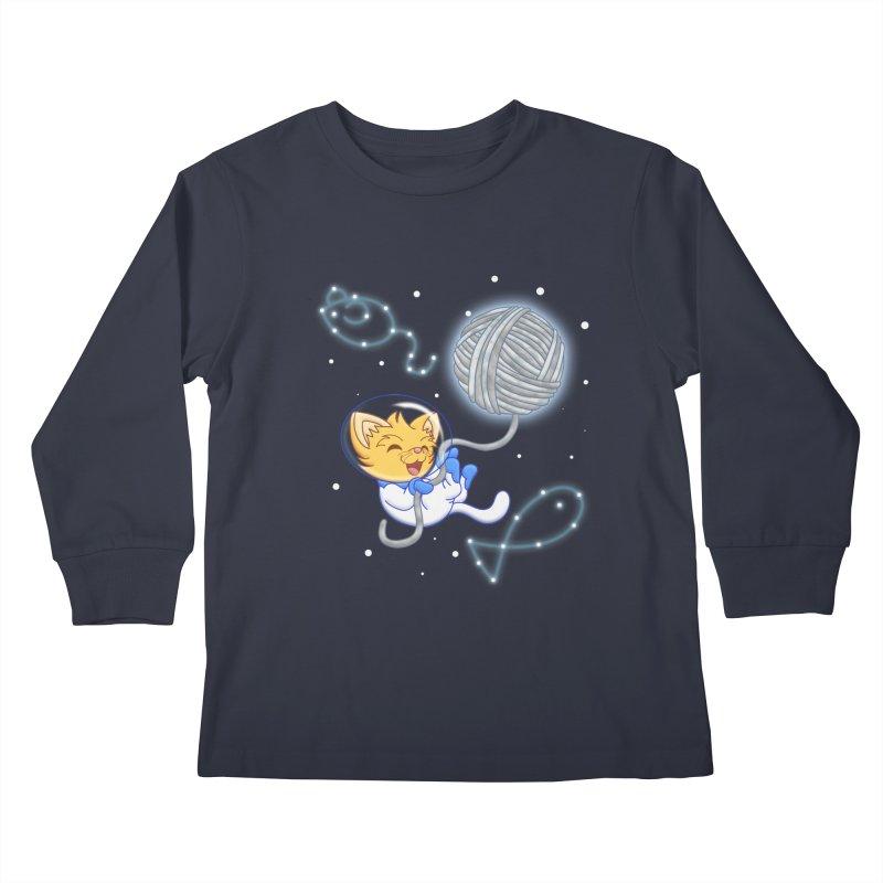 Yarn Moon Kids Longsleeve T-Shirt by Baubly Apparel