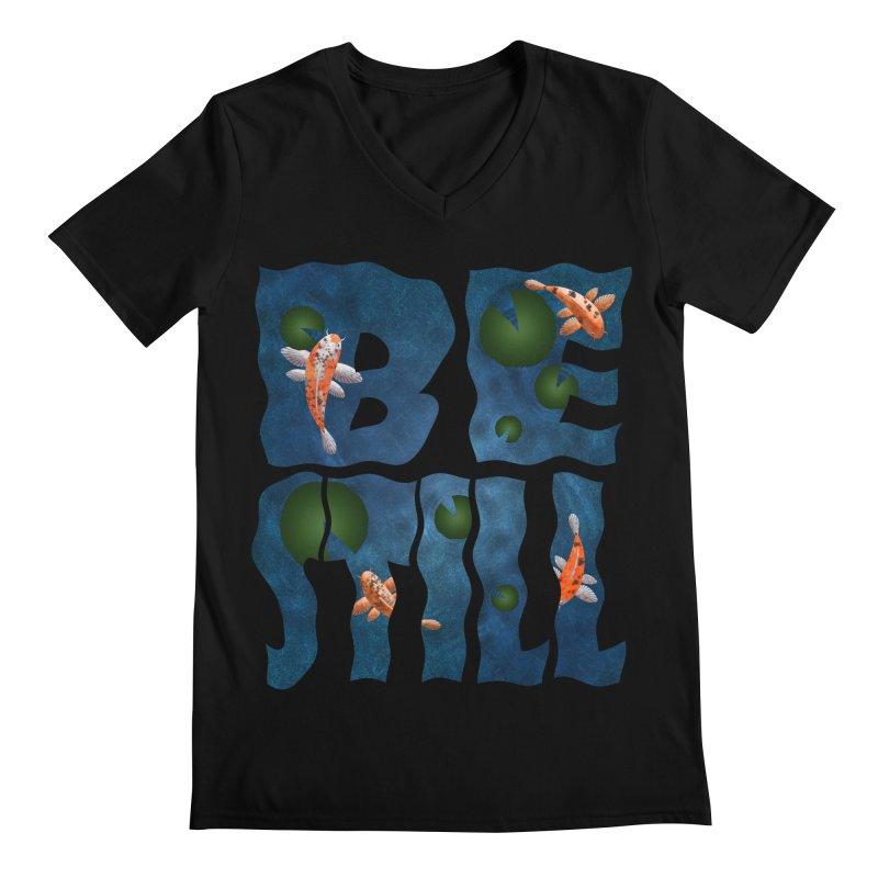 Be Still Men's V-Neck by Baubly Apparel