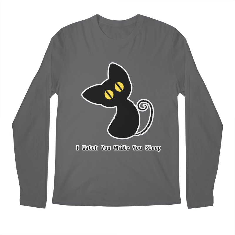 Kitty Stare Men's Longsleeve T-Shirt by Baubly Apparel