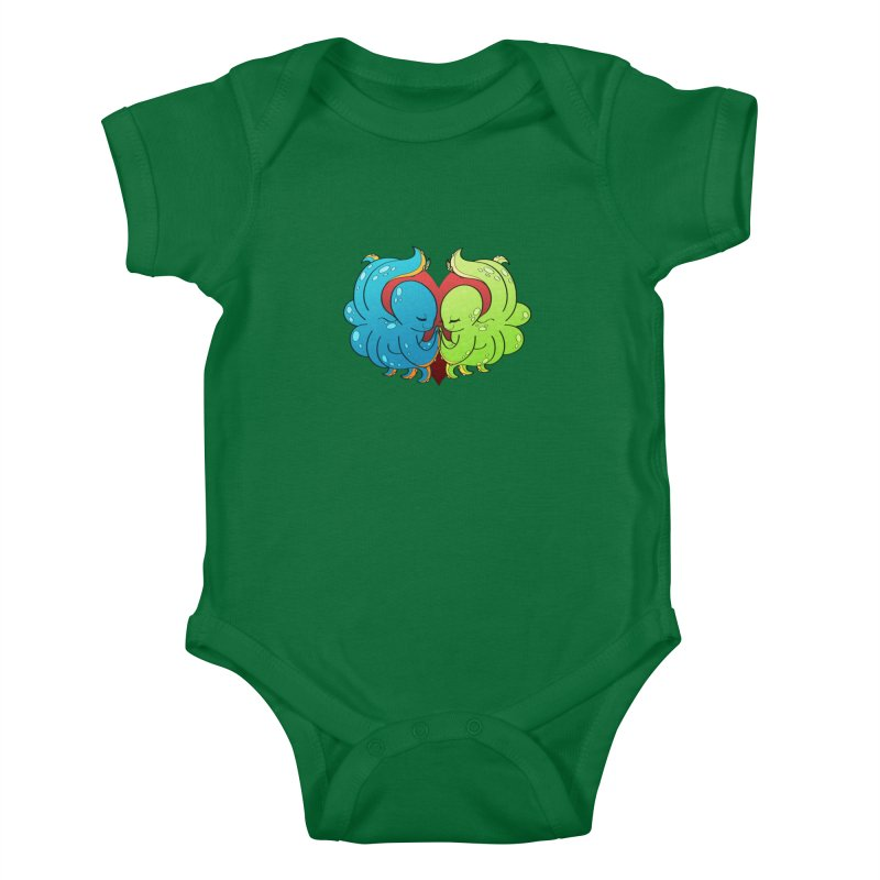 Octopus Adoration Kids Baby Bodysuit by Baubly Apparel
