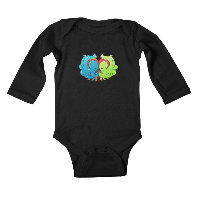 Octopus Adoration Kids Baby Longsleeve Bodysuit by Baubly Apparel