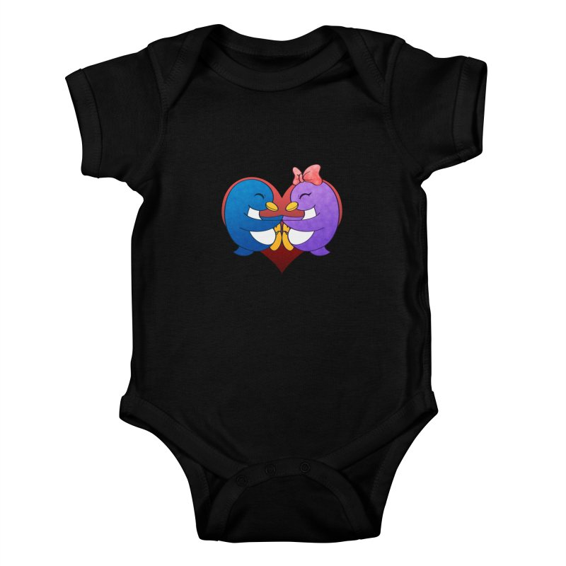 Penguin Snuggles Kids Baby Bodysuit by Baubly Apparel