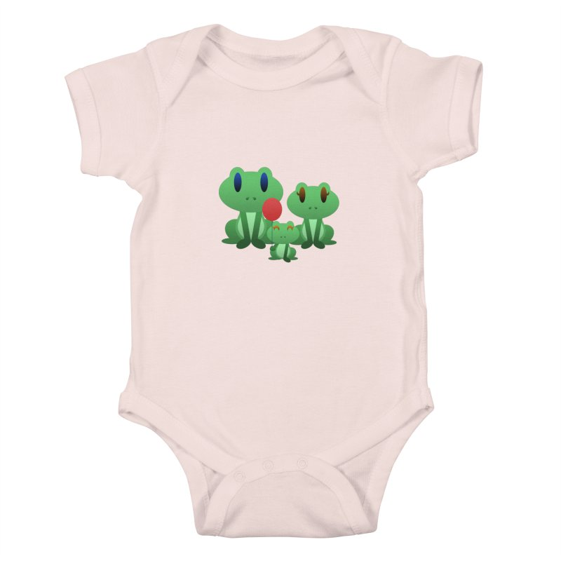 Frog Family Kids Baby Bodysuit by Baubly Apparel