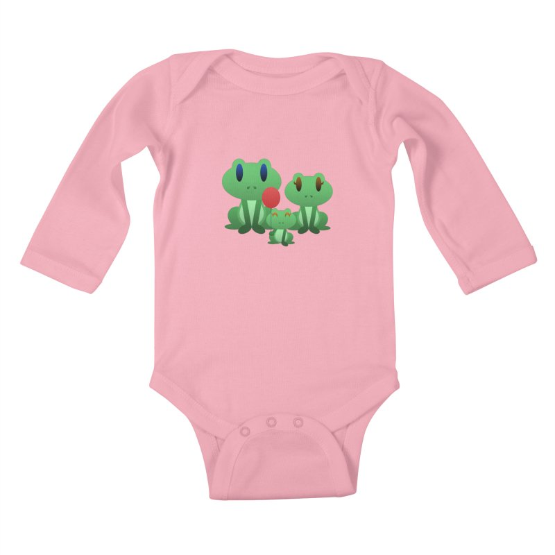 Frog Family Kids Baby Longsleeve Bodysuit by Baubly Apparel