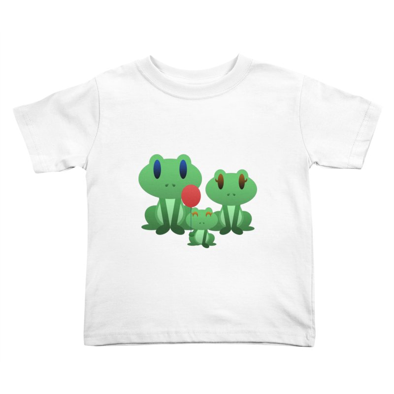 Frog Family Kids Toddler T-Shirt by Baubly Apparel