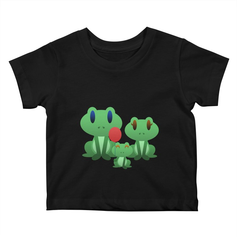 Frog Family Kids Baby T-Shirt by Baubly Apparel