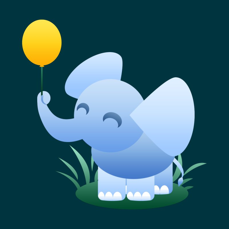 Elephant Balloon by Baubly Apparel