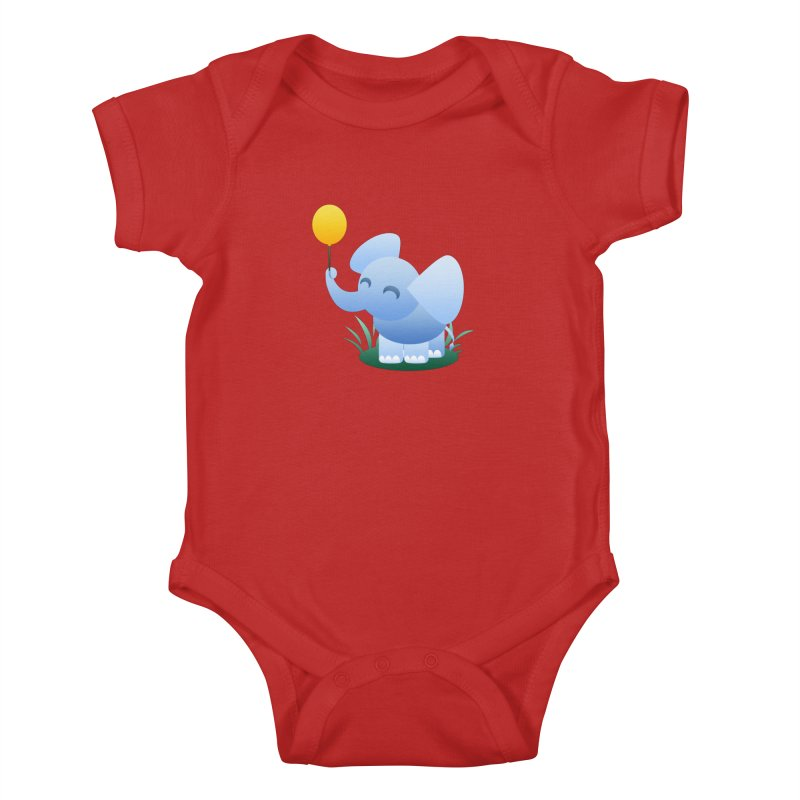 Elephant Balloon Kids Baby Bodysuit by Baubly Apparel