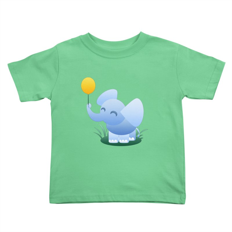 Elephant Balloon Kids Toddler T-Shirt by Baubly Apparel