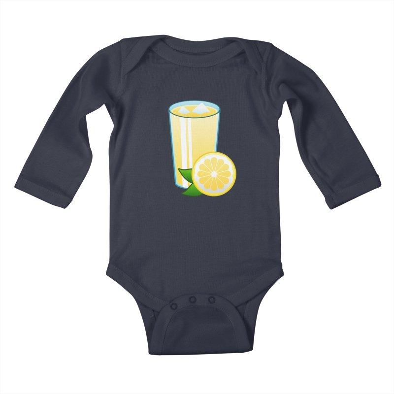 Sweet Lemonade Kids Baby Longsleeve Bodysuit by Baubly Apparel