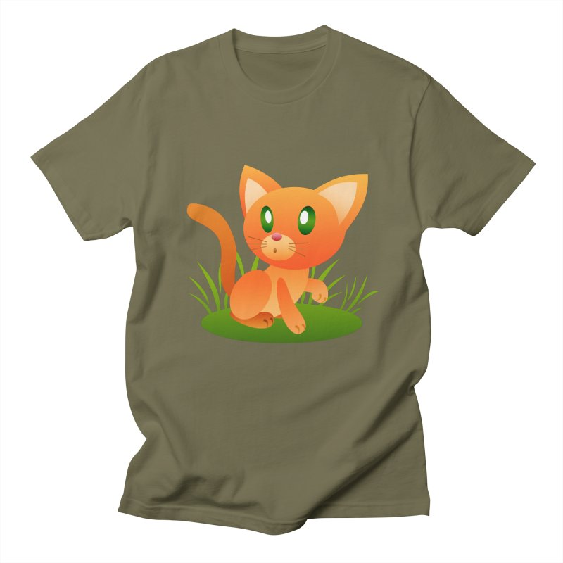 Little Cat Men's T-shirt by Baubly Apparel