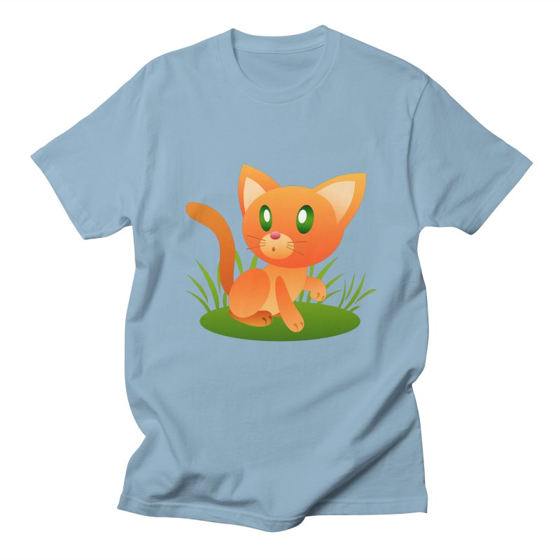 Little Cat Men's T-Shirt by Baubly Apparel