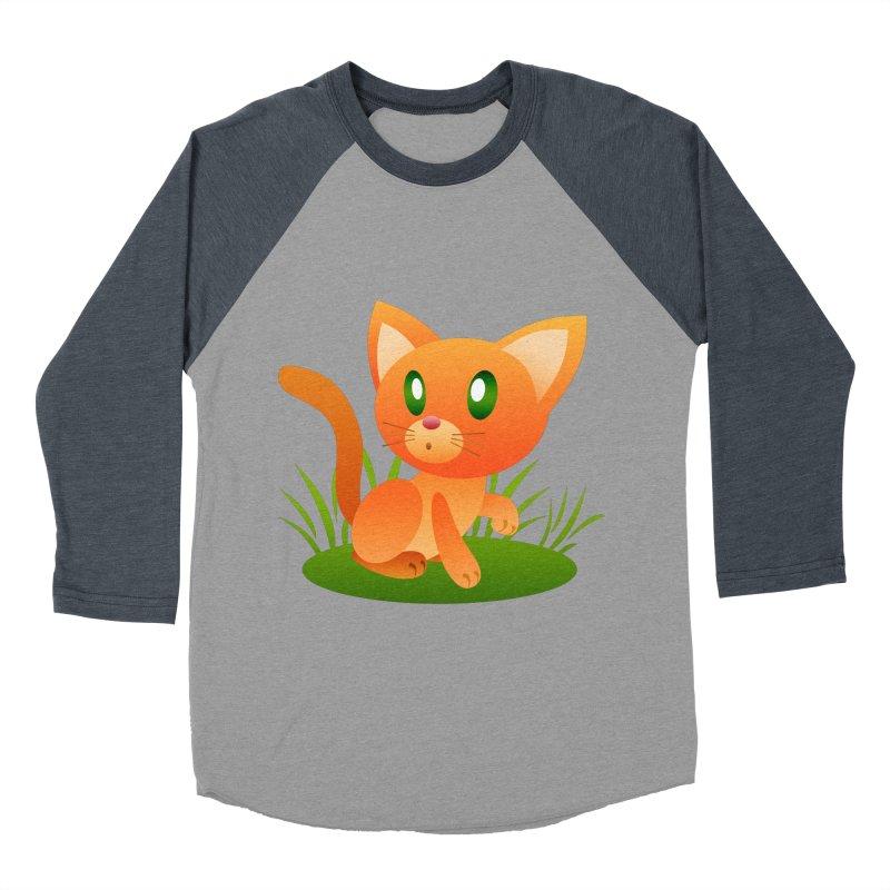 Little Cat Women's Baseball Triblend T-Shirt by Baubly Apparel