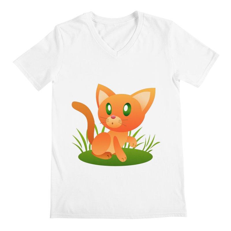 Little Cat Men's V-Neck by Baubly Apparel